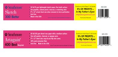Pink pad shelf labels