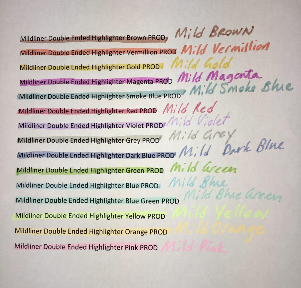 Mildliner Colors